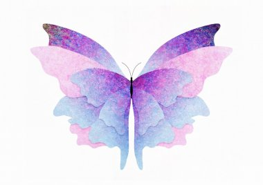 Textured butterfly