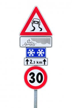 Slippery when wet and speed limit