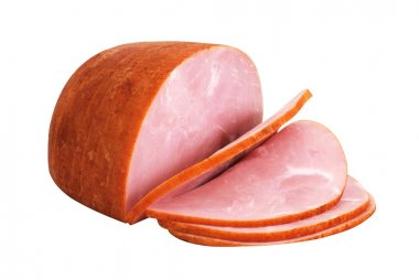 Sliced Ham Isolated