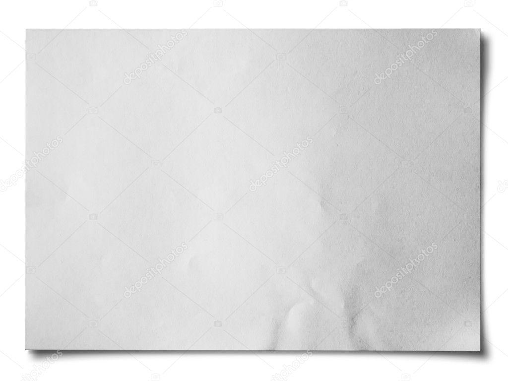 White crumpled paper Horizontal