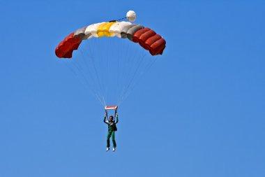 Colored parachute