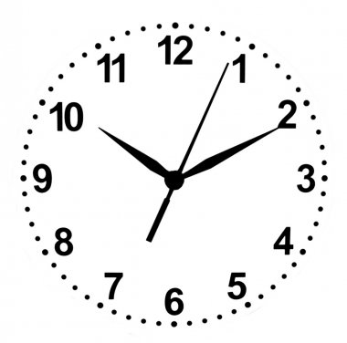 Dial clock isolated