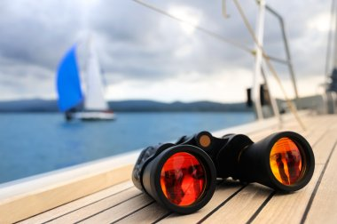 Binocular on yacht