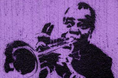 Trumpeter graffiti