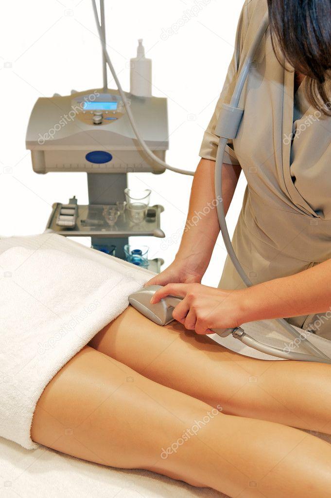 LPG Cellulite Treatment Stock Photo