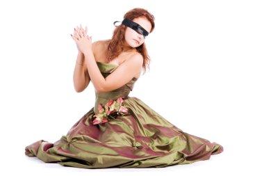 Girl blindfolded