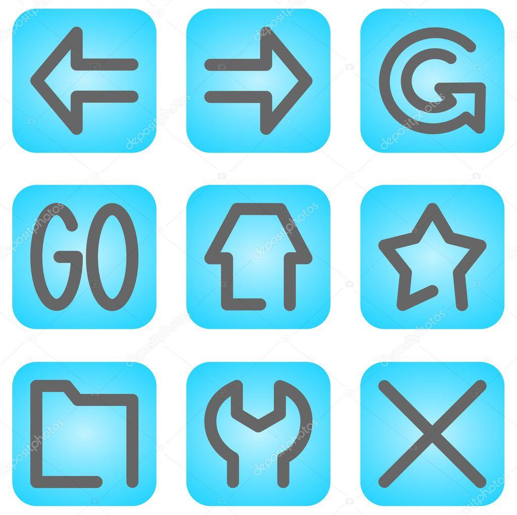 Simboli E Icone Browser Internet Vettoriali Stock Tkliew 3266940