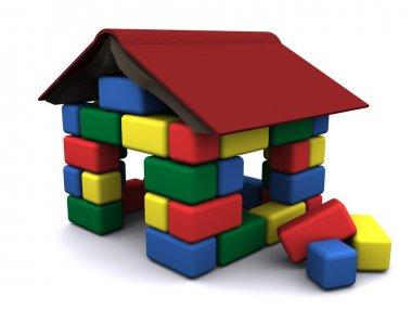 House of the children's blocks