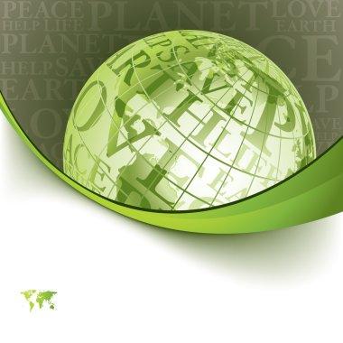 Eco background with globe