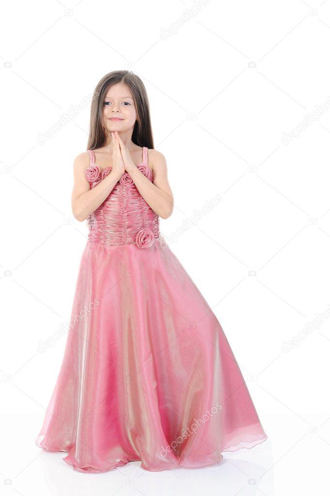 kleine Mädchen im Abendkleid — Stockfoto © Lebval #3931221
