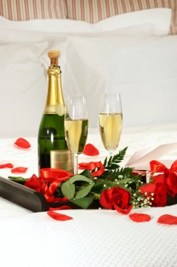 Romantic evening with champagne