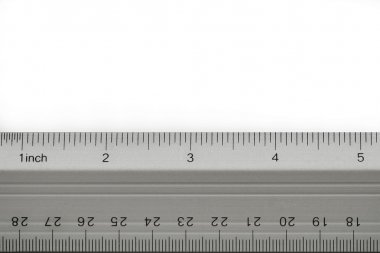 School ruler on white