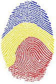 Fotografie Romania flag Fingerprint
