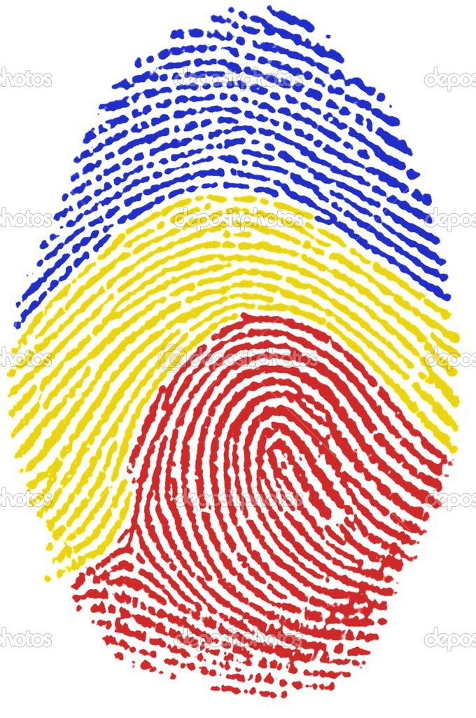 Romania flag Fingerprint