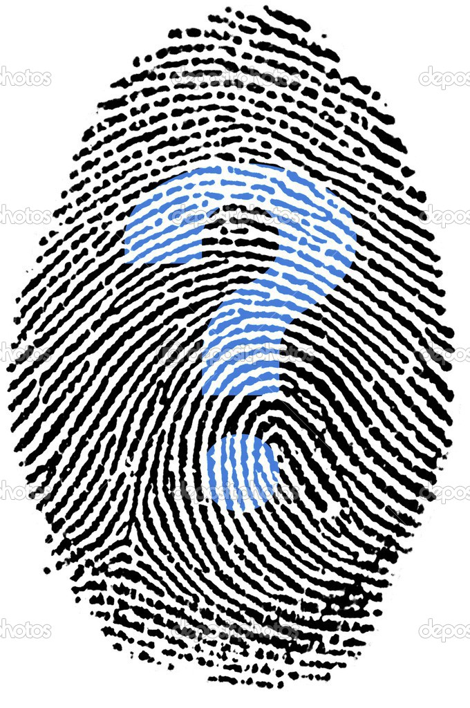Fingerprint Stamp On White Paper For Help Assistant Photo By Rigamondis