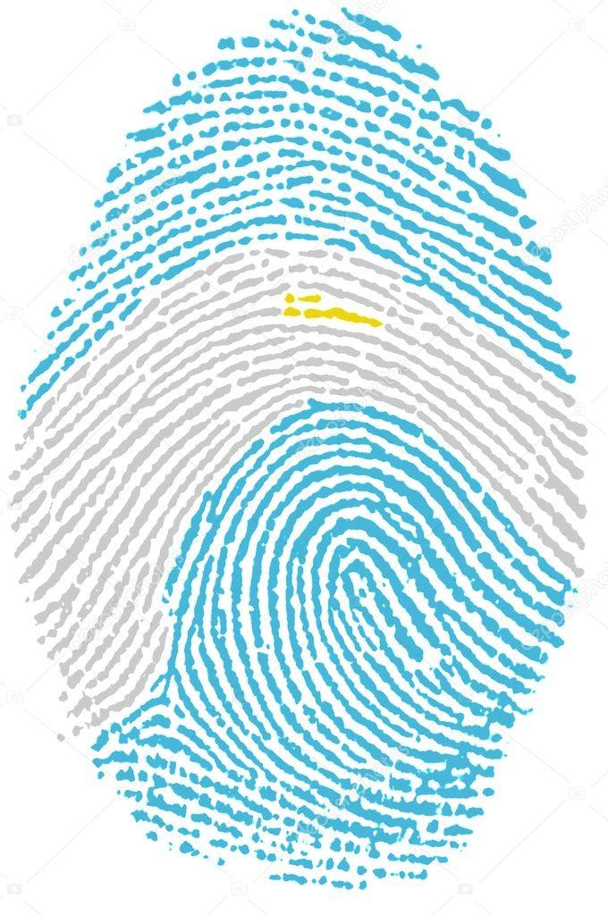 Fingerprint Stamp On White Paper For Argentina Flag Photo By Rigamondis