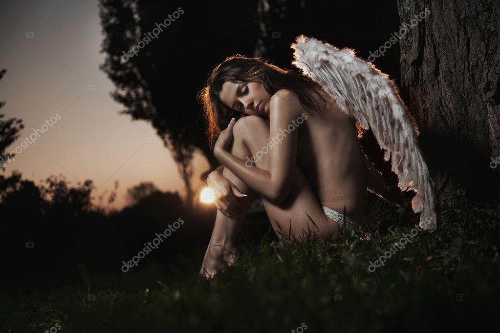 Fine art photo of a woman-angel
