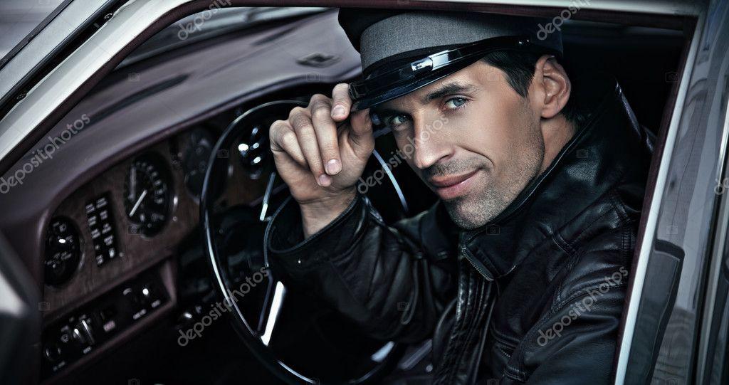 Chauffeur sitting in the car