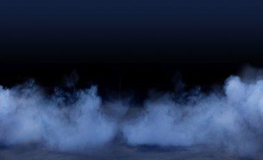 Studio background with smoky effect