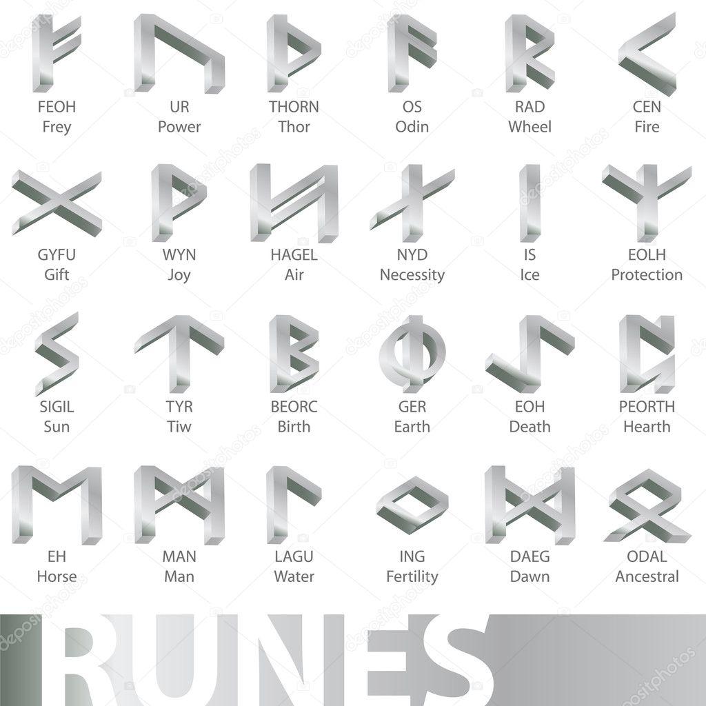 Runes Stock Vectors Royalty Free Runes Illustrations Depositphotos