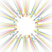 vektorové ilustrace šipky barvami