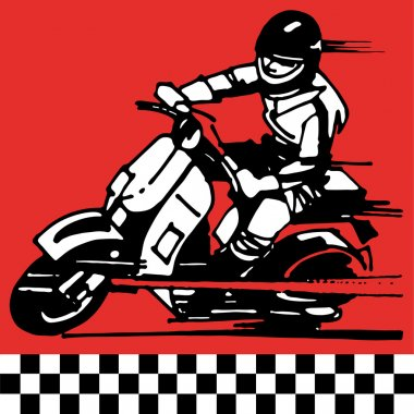Moto scooter motocycle retro vintage