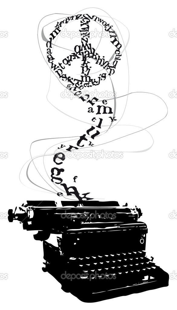 Letras De Máquina De Escribir De Paz Vector De Stock Alvaroc