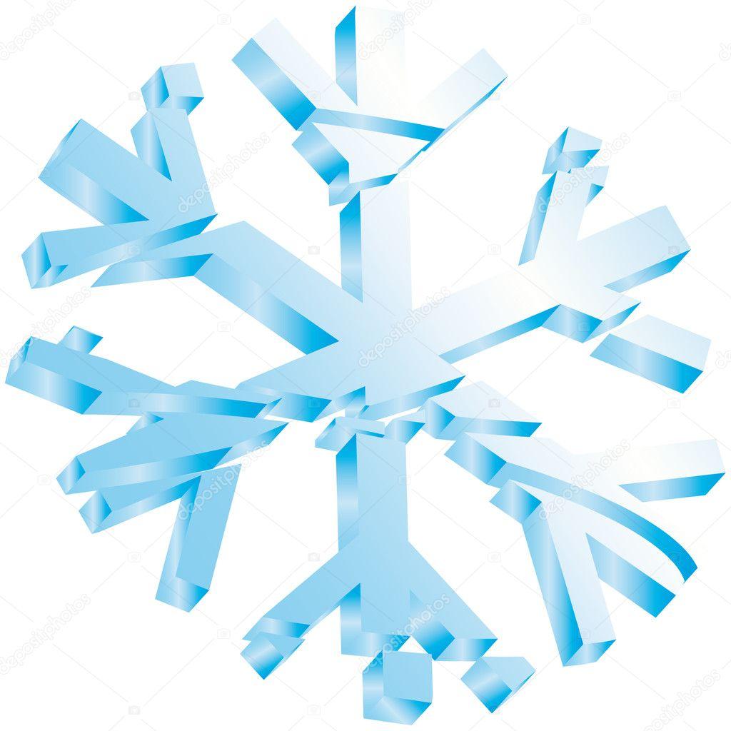 Estrella nieve hielo navidad vector de stock alvaroc for Estrella de nieve