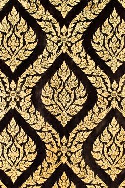 Native Thai style of pattern on door