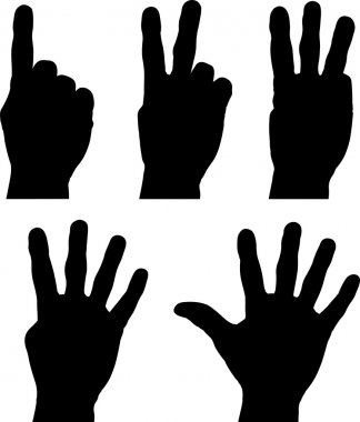 Hands one to five