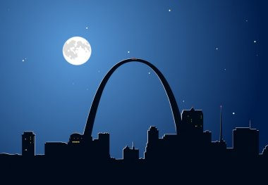 Moon Over Saint Loui
