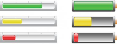Battery or power level indicicators