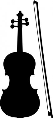 Violin and Bow Silhouette