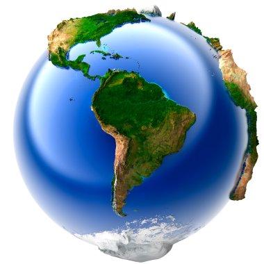 Miniature real Earth