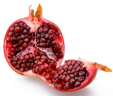Juicy sliced pomegranate