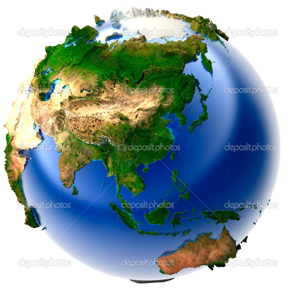 Miniature real earth stock photo antartis 3252910 3d model of the globe with an exaggerated vertical relief photo by antartis gumiabroncs Gallery
