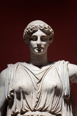 Colossal Statue of Ceres, Vatican Museums, Rome, Italy. Detail