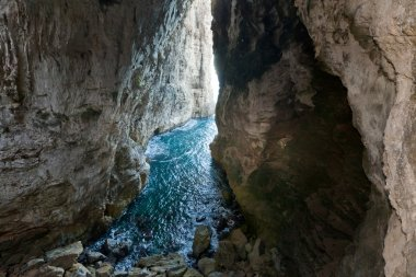 Ancient huge sea cave in the Italian city of Gaeta
