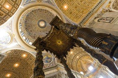 Saint Peter's basilica interior in Vatican