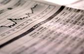 Fotografie fallende Aktien-index