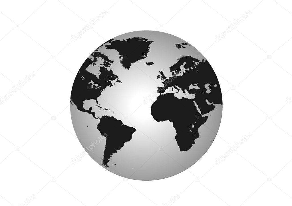 globe black and white stock photo razihusin 3315445. Black Bedroom Furniture Sets. Home Design Ideas