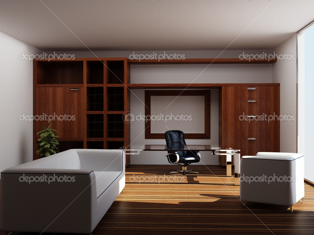modern interior office stock. Modern Interior Of An Office \u2014 Stock Photo