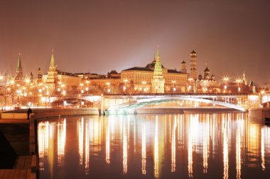 Moscow Kremlin at night