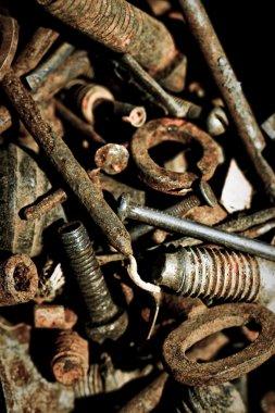 Abstract rusty grunge iron tools