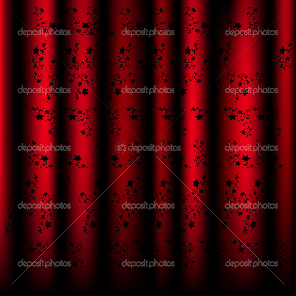sch ne muster vorh nge rot vektor stockvektor 3390738. Black Bedroom Furniture Sets. Home Design Ideas