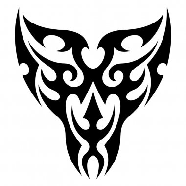 Face tattoo tribal vector