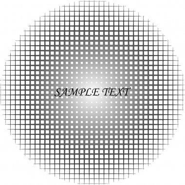 Round halftone pattern (scalable)