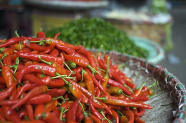 Fresh red and green chilli pepper