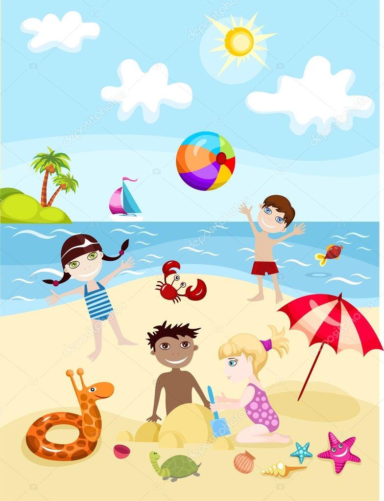 Картинки, открытки на море с семьей