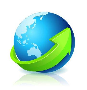 World Globe Go Green